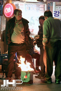 """Brothers By Fire"", New Years in Seoul, South Korea, 2006-7 Print KRDE3106-267"