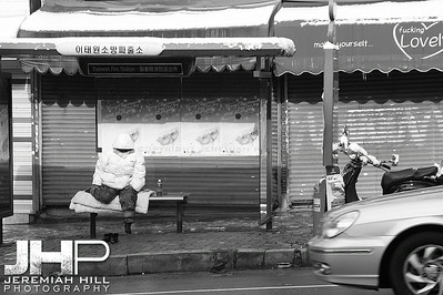 """Winter Wait"", Seoul, South Korea, 2006 Print KRDE916-286"