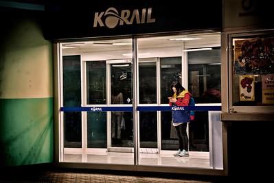 Suwon Station, 11:00 pm.