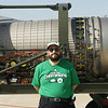 Me in front of a F16 Engine