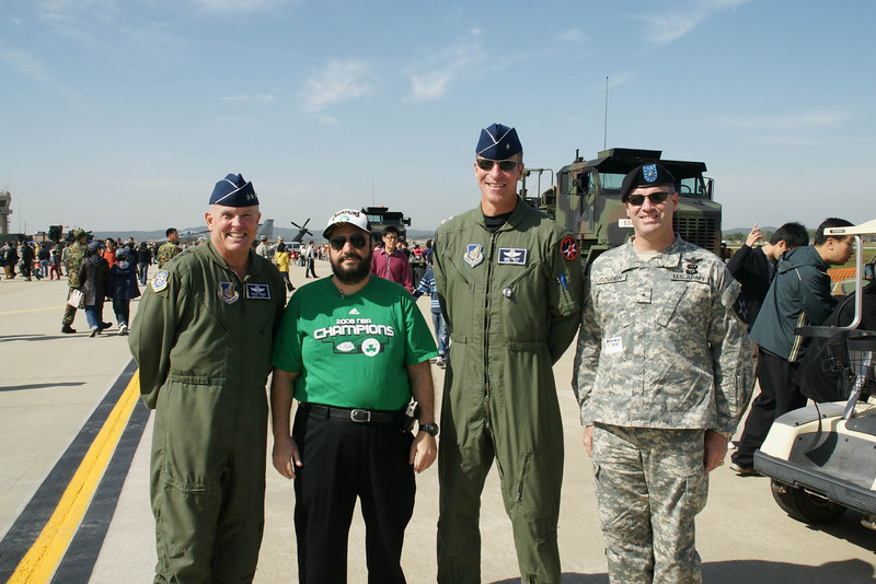The 7th Air Force Commanders and General Golden from the Army and me