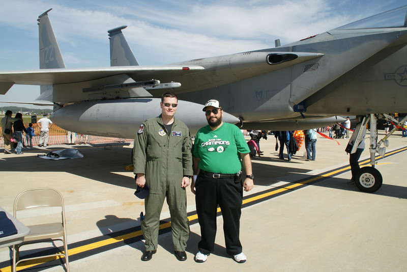 F15 pilot from Kadena Air Base Japan and me