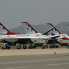 Osan Air Base South Korea Air Power Day 2009 featuring the USAF Thunderbirds