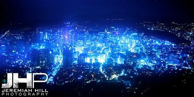 """Seoul In The Key of Blue At Night"", Seoul, South Korea, 2009  Print KOR3B94-014V3"