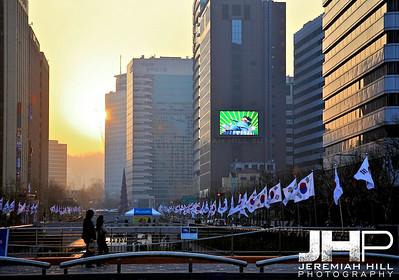 """Jongno Sunset #2"", Seoul, South Korea, 2009 Print KOR3B46-025"