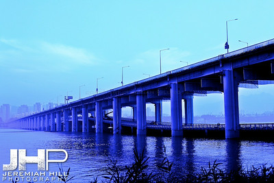 """Itaewon Bridge in Blue #1"", Seoul, South Korea, 2009 Print KOR3B831-029"