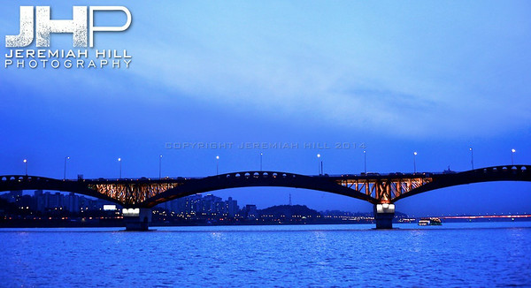 """Bridge On the Han"", Seoul, South Korea, 2009 Print KOR3B919-231"