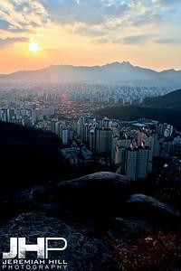 """Seoul from the North #1"", Seoul, South Korea, 2009 Print KOR321-206"