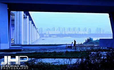 """Under the Bridge in Blue"", Seoul, South Korea, 2009 Print KOR3B813-001"