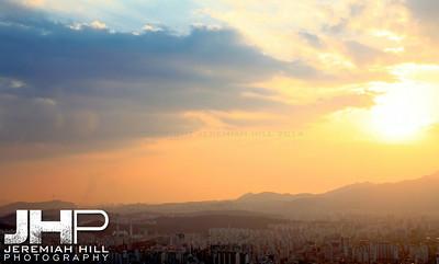 """Seoul from the North #4"", Seoul, South Korea, 2009 Print KOR321-213"