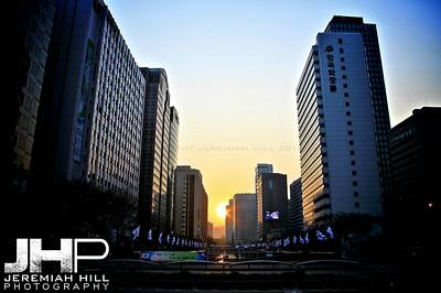 """Jongno Sunset #1"", Seoul, South Korea, 2009 Print KOR3B46-021"