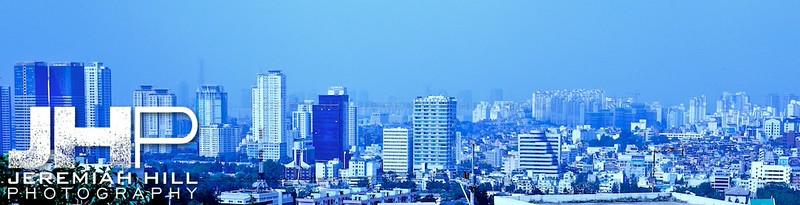 """""""Blue City Seoulscape"""", Seoul, South Korea, 2009 Print KOR3B731-075"""