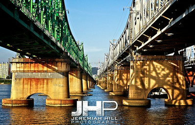 """Between Bridges"", Seoul, South Korea, 2009 Print KOR3B919-173"