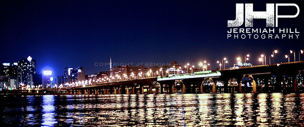 Itaewon Bridge at night. Print KOR3B-919-246