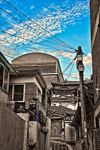 2011-09-18_Seoul_Gyedong_Hanok_Alley_BlueSky-8800-HDR