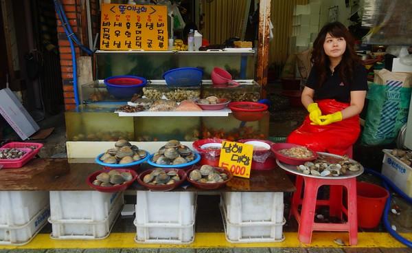 Fish market in Busan, Korea