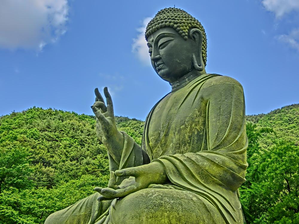 Giant Buddha at Gagwonsa Buddhist Temple in Cheonan