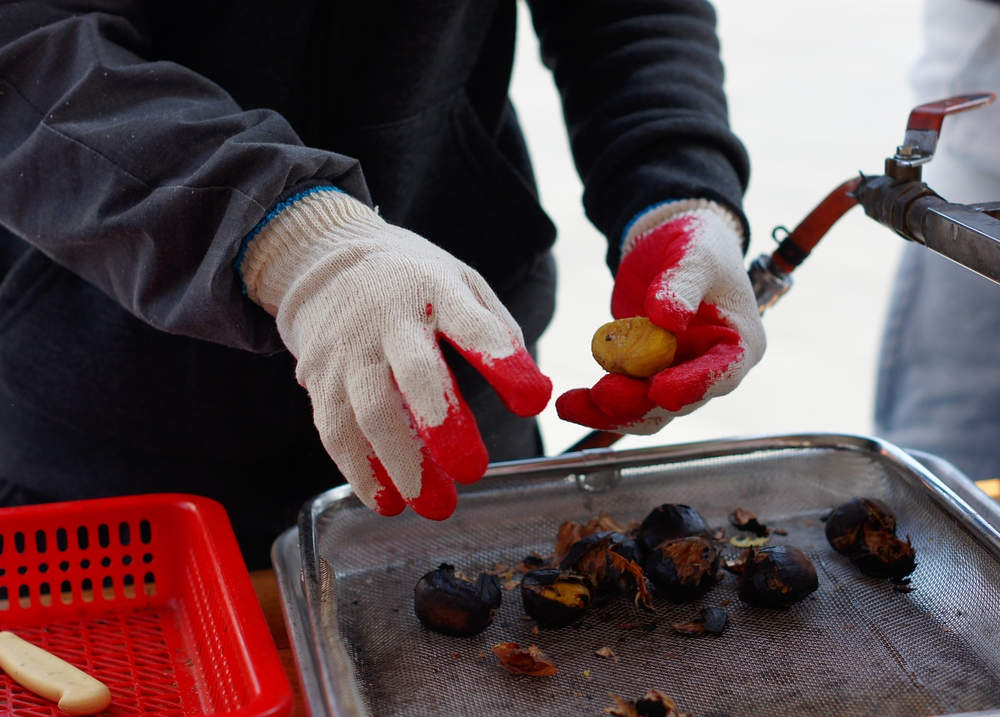 Preparing Chestnuts | Insadong, Seoul, Korea | Travel Photo