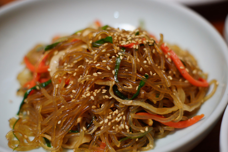 Today's daily travel photo is one of my favourite Korean dishes, Japchae (Korean: 잡채), consisting of sweet potato noodles mixed with assorted vegetables and stir fried in sesame oil.