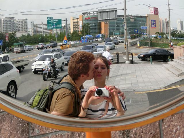 Audrey and Sam exploring Seoul