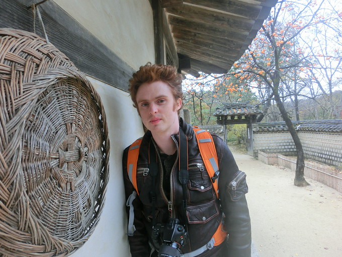 Nomadic Samuel Jeffery hanging out at the Korean Folk Village