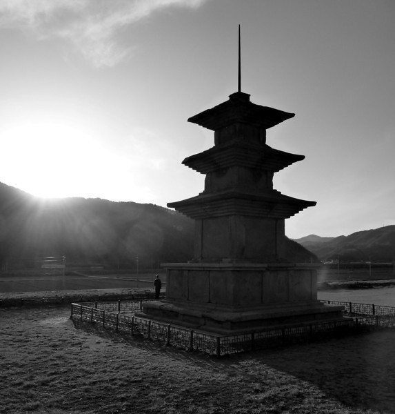 "A Korean pagoda along the way to the cultural hub of Gyeongju, South Korea.  Travel photo from Gyeongju, South Korea. <a href=""http://nomadicsamuel.com"">http://nomadicsamuel.com</a>"