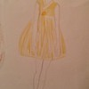 Yellow Korean Inspired Dress sketch