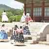 Girls in Traditional Hanboks at Palace
