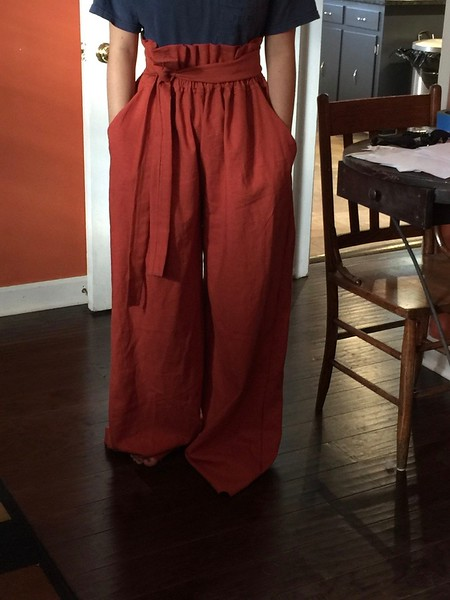 Burnt Orange Korean Inspired pants   Jan King