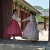 Girls at Palace in Traditional Hanbok  Korea