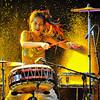 Aquatic drumming Korean style.
