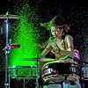 The drummer goes Hulk!