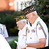 Richard Kurek, front, and other members of the Pittsfield VFW Post 448 Commander gather for a small ceremony outside of City Hall in Pittsfield to commemorate those who fought and died in the Korean War on Saturday, July 31, 2021.