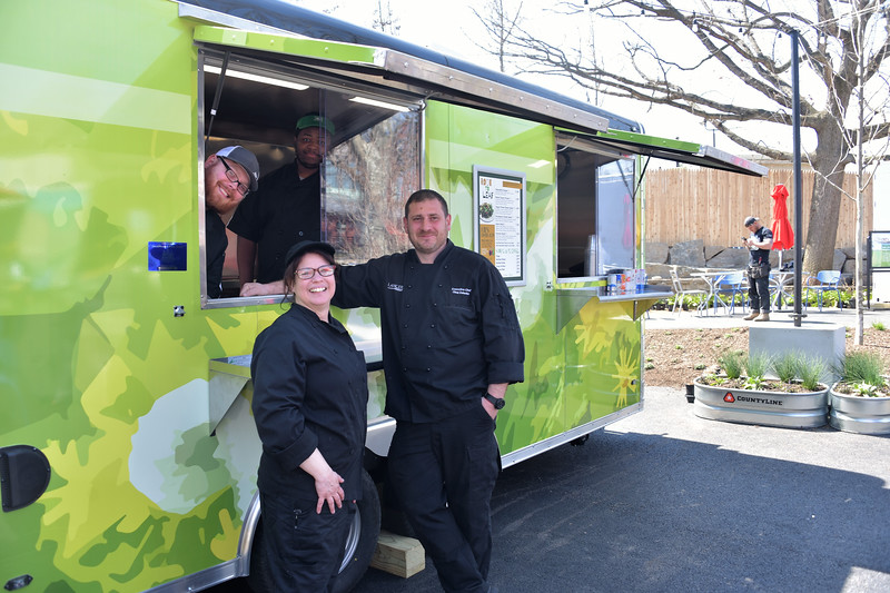 Executive Chef Oleg Zelenko and his team who oversee the Urban Green food program