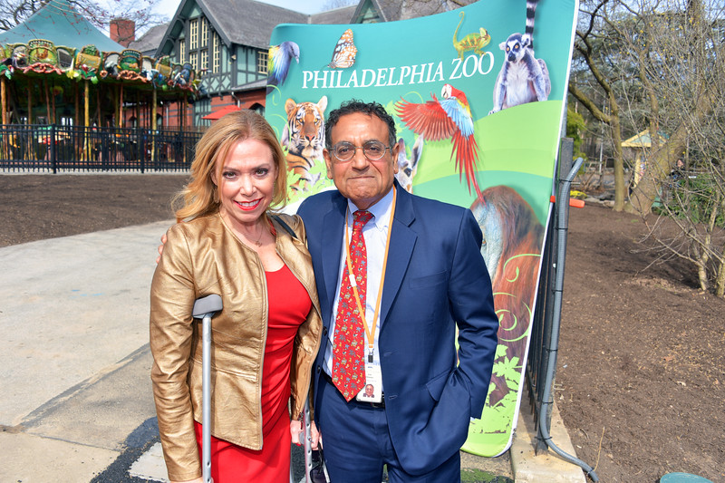 Sheila Hess, City Representative and Vikram H. Dewan, CEO of the Philadelphia Zoo