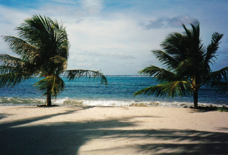 Kosrae:  Beach scene