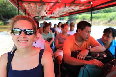 Wodna taksówka, tylko tak mozna sie dostac do Tortuguero (no mozna jeszcze leciec)