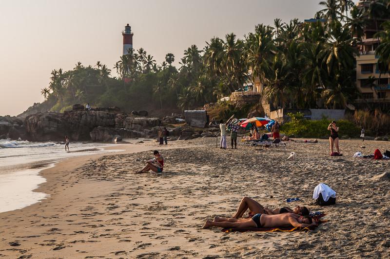 Light house at Kovalam beach, Kerala,  India