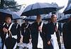 Rassemblement de moines pour la cérémonie du mieku. Koya San/Ile de Honshu/Japon