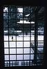 Un homme ramassant la neige dans la cour du Kongobu-Ji. Koya San/Ile de Honshu/Japon