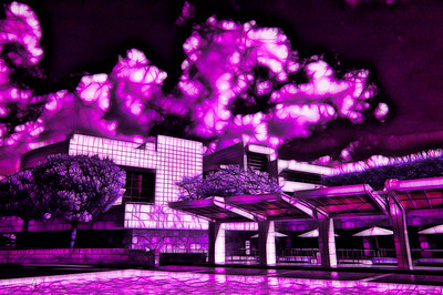 The Getty in Magenta