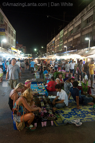 Weekend Night Market in Krabit Town.