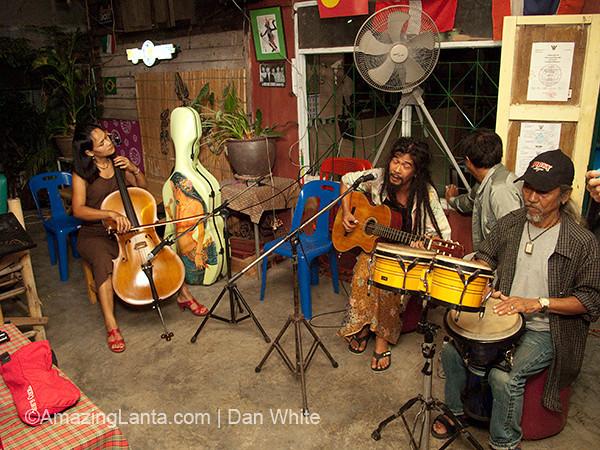 Live Music at the Night Joy Bar. Krabi Town. Thailand.