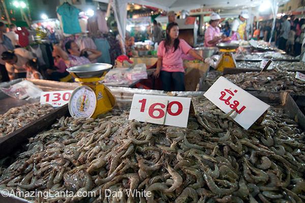 Walking Street Weekend Night Market. Krabi Town. Thailand.