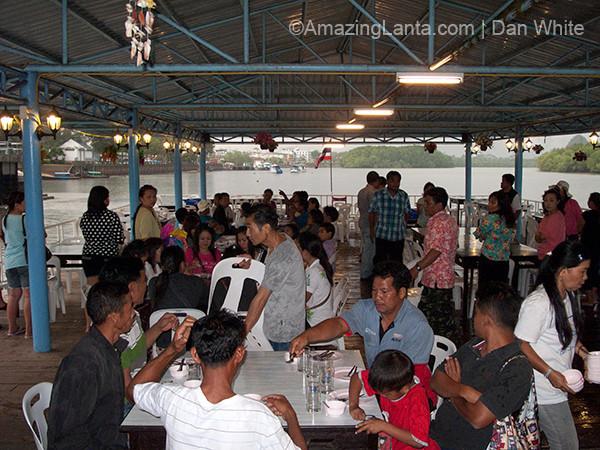 Floating Restaurant. Krabi Town. Thailand.