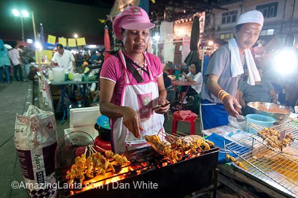 Walking Street Weekend Night Market, Krabi Town, Thailand.