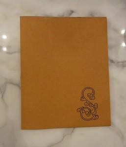 Kraft-tex folder, front