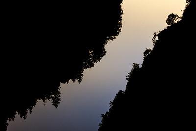 Večer nad řekou