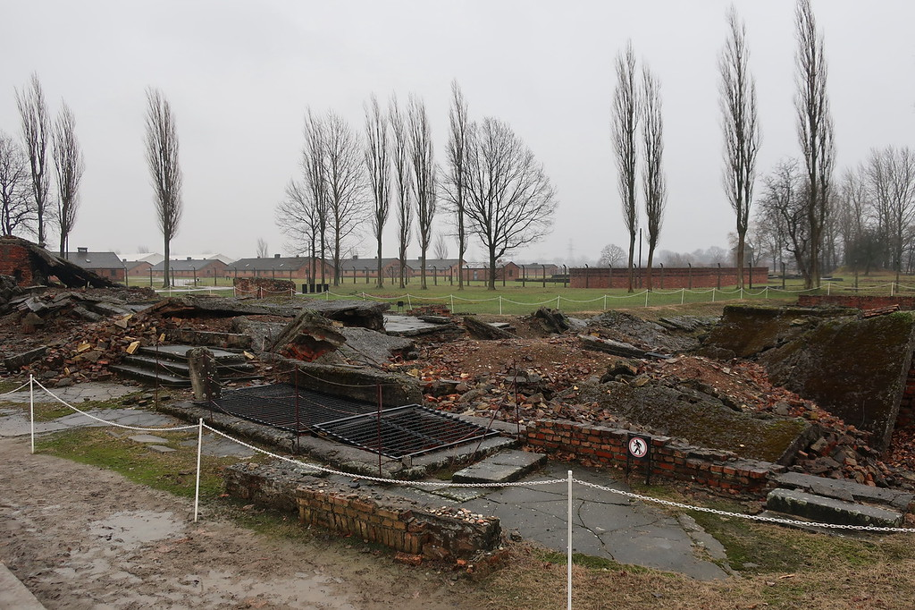 What's left of the gas chambers.