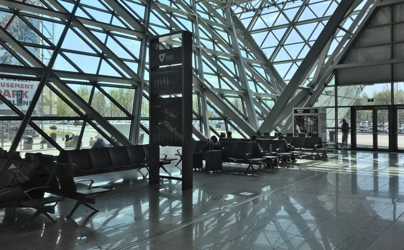 Krakow Airport ground floor waiting area